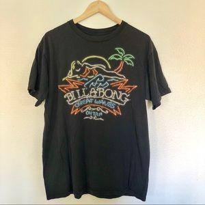 Billabong graphic tee t-shirt men's unisex sz L